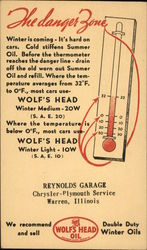 Advertisement for Wolf's Head Motor Oil