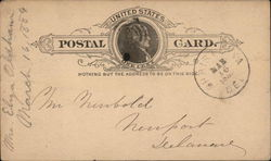 Blank United States One Cent Postal Card