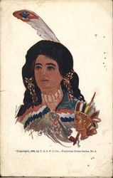 Indian Women with a Feather in her Hair