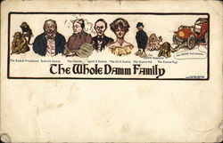 A Picture of the Damm Family Postcard