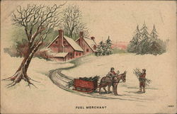 "Picture of a Horse and Sleigh ""Fuel Merchant"""