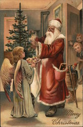 Santa and an Angel with Muffins