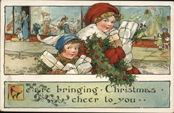 Children with Christmas Presents Postcard