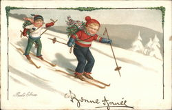 Children Snow Skiing