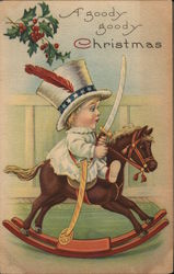 """A Goody Goody Christmas"" - Child With Sword on Rocking Horse"