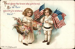 Patriotic Children with Flags