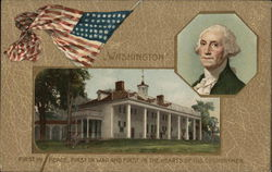 George Washington, Mount Vernon, and U. S. Flag