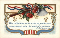 """The Reflections Which Arise On Justice and Benevolence Will Be Lastingly Grateful."" Postcard"