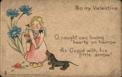 To my Valentine - A Young Girl and Her Dog