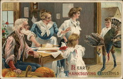 Family Preparing Thanksgiving Meal