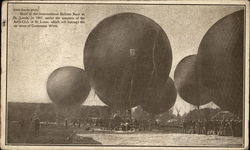 Start of the International Balloon Race in St. Louis, 1907 Postcard