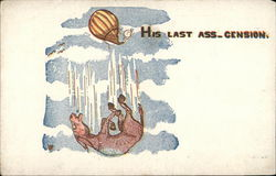 """His Last Ass-cension"" - Donkey Falling From Balloon"