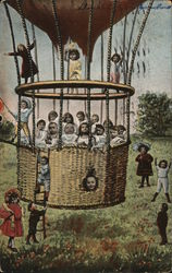Children on a Hot Air Balloon