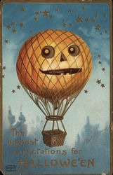 Hot Air Balloon with Jack-o-Lantern