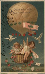 Two Angel Girls in a Hot Air Balloon