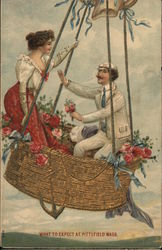 Picture of a Couple on a Hot Air Balloon
