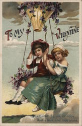 To My Valentine - Young Couple on a Swing