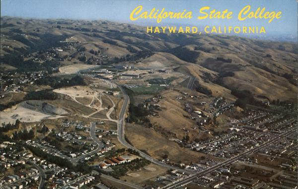 Aerial View of California State College Hayward Carlos Corredor