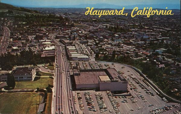 Aerial View Looking South on Foothill Blvd. Toward the Downtown District Hayward California
