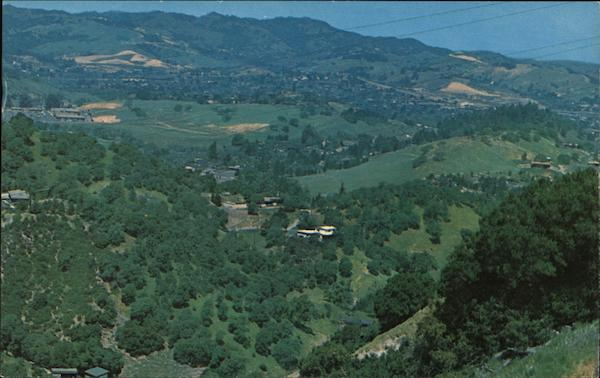 Aerial View of Beautiful Contra Costa Hills in the Spring El Cerrito California