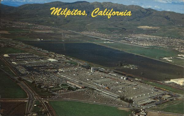 Aerial View Showing Ford Motor Company Plant Milpitas California