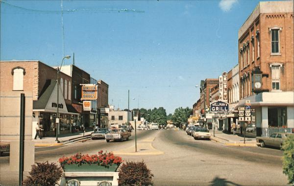 Looking West on Maumee Street From the Monument Angola Indiana