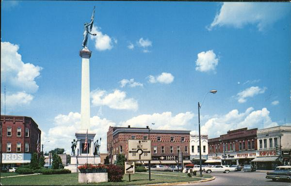 Civil War Monument and Square Angola Indiana