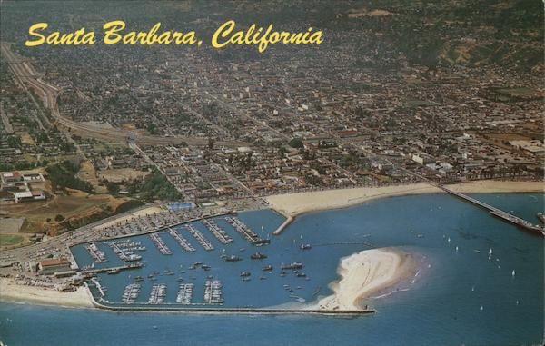 Aerial View of Marina Santa Barbara California Aero Photographers