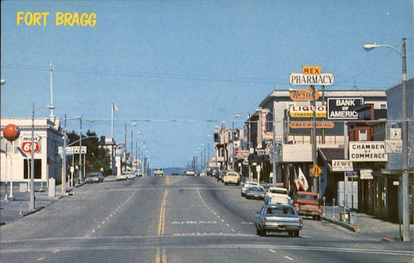 A View of Main Street Looking North Fort Bragg California
