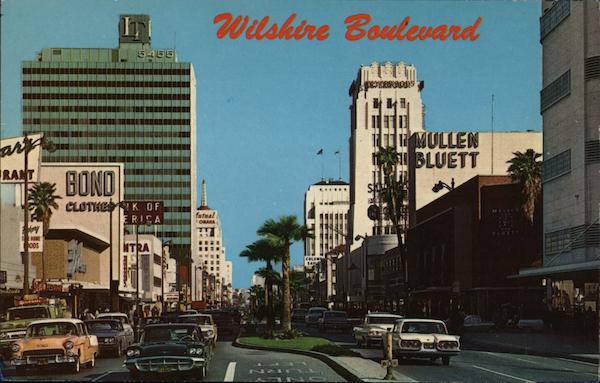 On the Miracle Mile, Wilshire Boulevard Los Angeles California