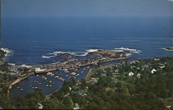 Air View of Perkins Cover Ogunquit Maine