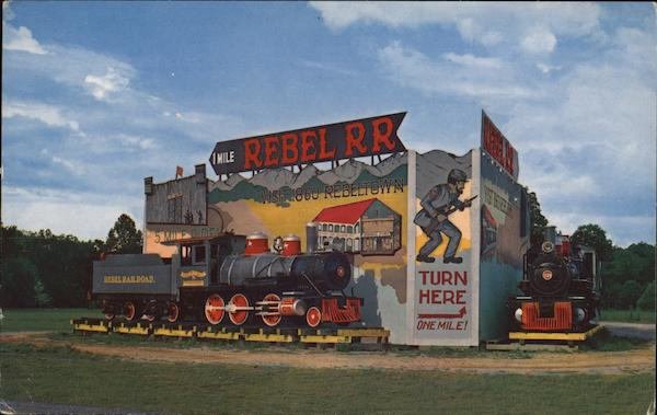 Rebel Railroad Entrance Sign Pigeon Forge Tennessee