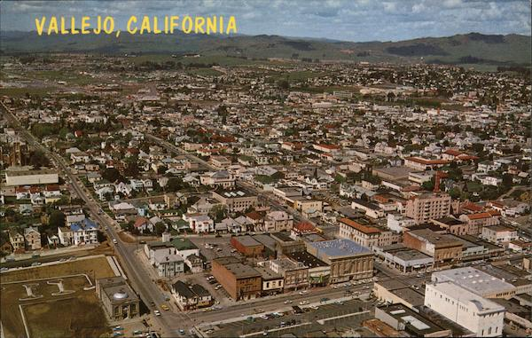 Aerial View of Town Vallejo California