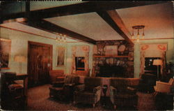 Game Lodge Lobby, Custer State Park Postcard