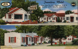 Travelers Motel, East Side on U.S. Highways 14 & 16