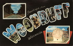 Greetings from Woodruff Postcard