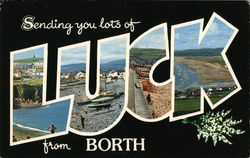 Sending You Lots of Luck From Borth Postcard