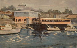 Oil Painting of Galley Restaurant by Artist Dwight Carlisle