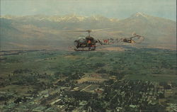 Helicopter over Aerial View