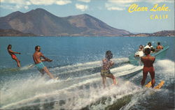Water Skiing Postcard