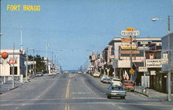 A View of Main Street Looking North Postcard