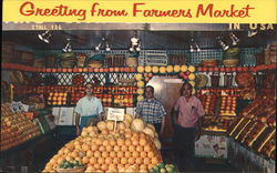 Greetings from Farmers Market Postcard