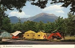 Mt. Katahdin and Steam Campsite, Baxter State Park Postcard
