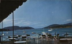 View from the Moorings, Little Norway of America Postcard