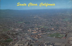 Aerial View with University of Santa Clara