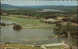 Aerial View of Town, Panther Pond in Background