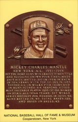 Plaque of Mickey Mantle - National Baseball Hall of Fame and Museum