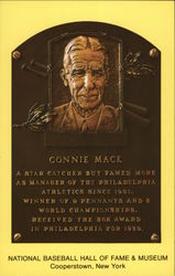 Plaque of Connie Mack - National Baseball Hall of Fame and Museum