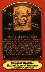 Frank Leroy Chance Plaque