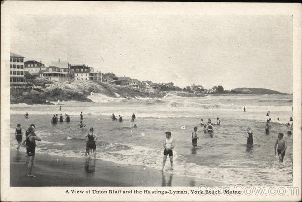 A View of Union Bluff and the Hastings-Lyman York Beach Maine